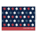 Patriotic Stars Red White & Blue Greeting Cards