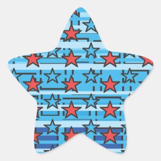 Patriotic Stars Star Sticker