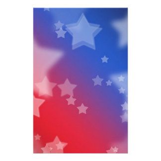 Patriotic Stars Stationery