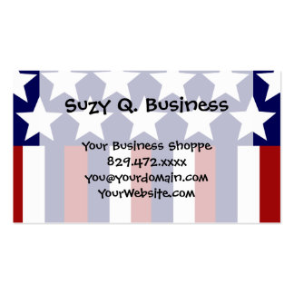 Patriotic Stars Stripes Freedom Flag 4th of July Double-Sided Standard Business Cards (Pack Of 100)