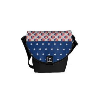 Patriotic Stars Stripes Freedom Flag 4th of July Courier Bags