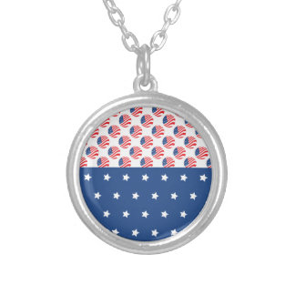 Patriotic Stars Stripes Freedom Flag 4th of July Pendant