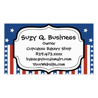 Patriotic Stars Stripes Freedom Flag 4th of July Pack Of Standard Business Cards
