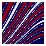 Patriotic Stars Stripes Freedom Flag 4th of July Posters
