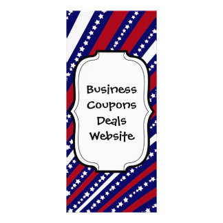 Patriotic Stars Stripes Freedom Flag 4th of July Personalized Rack Card