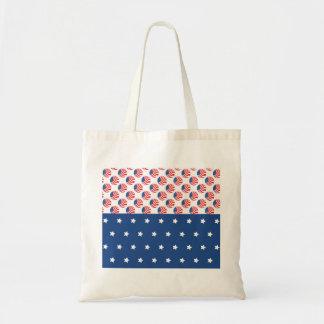 Patriotic Stars Stripes Freedom Flag 4th of July Budget Tote Bag