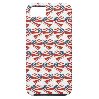 Patriotic Stars Stripes Freedom Flag Hearts 4th of Tough iPhone 5 Case