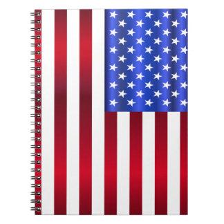 Patriotic Stars & Stripes Notebook
