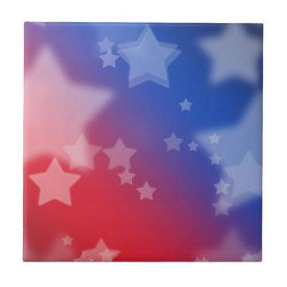 Patriotic Stars Tile
