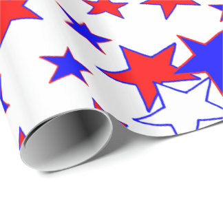 Patriotic Stars Wrapping Paper
