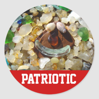 PATRIOTIC stickers July 4th Smily Face stickers