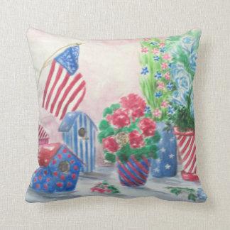 Patriotic Still Life Cushion