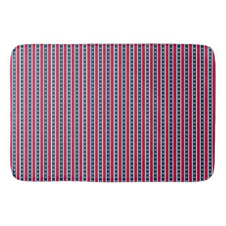 Patriotic Stripes, American flag bath mat