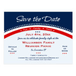 Patriotic Sunflower Reunion, Party, Save the Date Postcard
