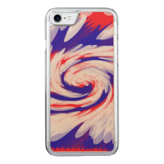 Patriotic Swirl Abstract Carved iPhone 7 Case