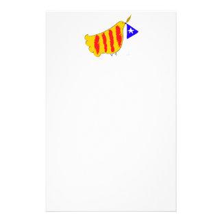 patriotic Symbol, Catalonia freedom dove.Catalunya Personalised Stationery