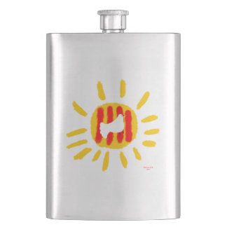 Patriotic Symbol, Catalonia freedom dove Hip Flask