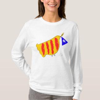 Patriotic Symbol, Catalonia freedom dove. T-Shirt