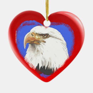 Patriotic Symbols Heart Ornament
