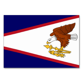 Patriotic table card with Flag of American Samoa
