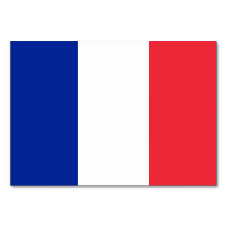 Patriotic table card with Flag of France
