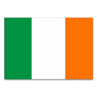 Patriotic table card with Flag of Ireland