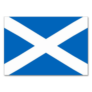 Patriotic table card with Flag of Scotland