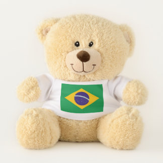 Patriotic Teddy Bear flag of Brazil