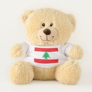 Patriotic Teddy Bear flag of Lebanon