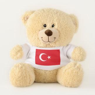 Patriotic Teddy Bear flag of Turkey