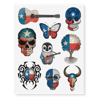 Patriotic Texas Flags Collection