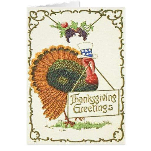Patriotic Thanksgiving Greeting Cards