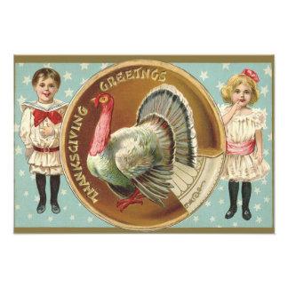 Patriotic Thanksgiving Turkey Children Stars Photograph