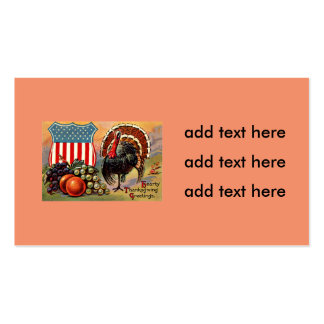Patriotic Thanksgiving Turkey Fruit Pack Of Standard Business Cards