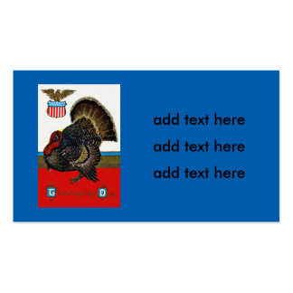 Patriotic Thanksgiving Turkey US Shield Eagle Pack Of Standard Business Cards