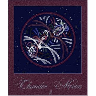 Patriotic Thunder Moon Photo Sculpture Magnet