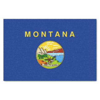 Patriotic tissue paper with flag Montana, USA