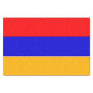 Patriotic tissue paper with flag of Armenia