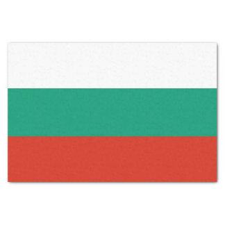 Patriotic tissue paper with flag of Bulgaria