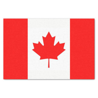 Patriotic tissue paper with flag of Canada