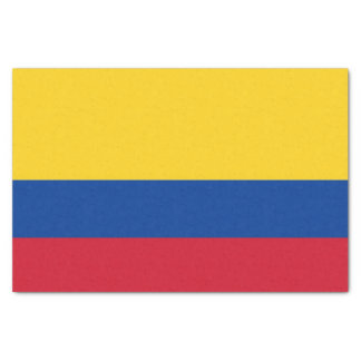 Patriotic tissue paper with flag of Colombia