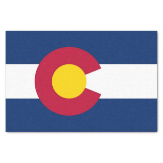 Patriotic tissue paper with flag of Colorado
