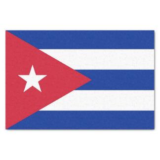 Patriotic tissue paper with flag of Cuba