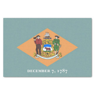 Patriotic tissue paper with flag of Delaware