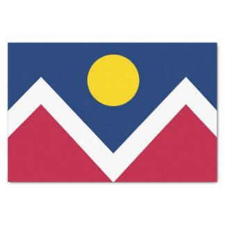 Patriotic tissue paper with flag of Denver City