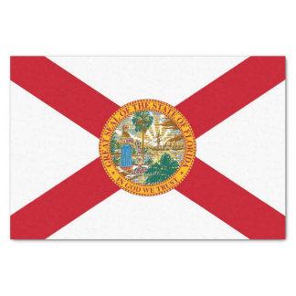 Patriotic tissue paper with flag of Florida