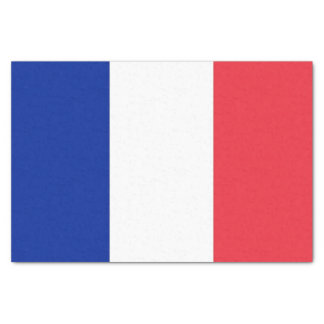 Patriotic tissue paper with flag of France