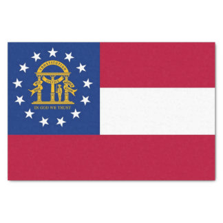 Patriotic tissue paper with flag of Georgia