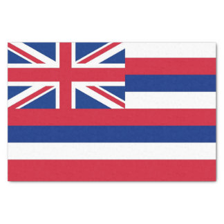 Patriotic tissue paper with flag of Hawaii