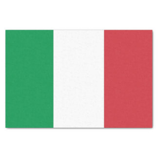 Patriotic tissue paper with flag of Italy